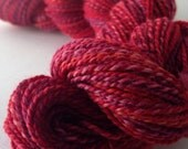 NEW COLORWAY - Devilish Grin - dyed in the wool, bfl superwash sock yarn, hand dyed, millspun
