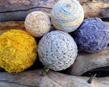 Sun and Shade, Decorative Ball, Decorative Orbs, Deco Balls, Yellow, Grey, Gold, Taupe, Tan, Natural, Cream