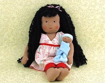 "15"" Doll Sophie Snickerdoodle & Baby Sprinkles"