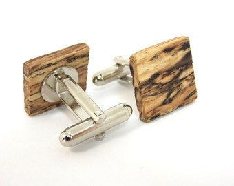 boyfriend birthday gift, wood anniversary gifts, unique cufflinks, wood cufflinks