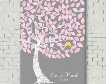 Wedding Guest Book Alternative Wedding Tree, Wedding Gift Custom Guest Book Tree, Bridal Shower Gift Guestbook, Wedding Signs Guestbook Sign