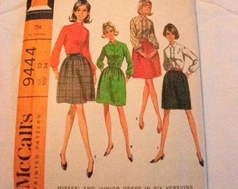 Vintage McCalls 9444 misses dress pattern 6 versions size 12