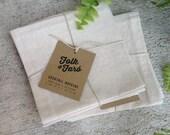 Natural Linen Cloth Cocktail Napkins