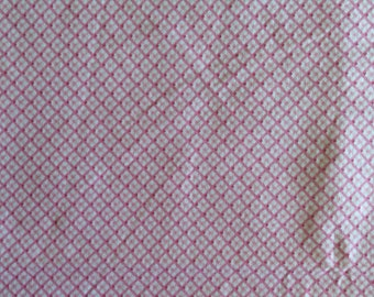 Pink and white Flannel Fabric, pink flannel fabric