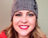 Two button ear warmer headband FREE SHIPPING