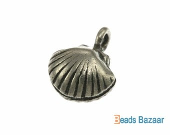 Sea Shell Charm, 14 mm - Karen Hill Tribe silver