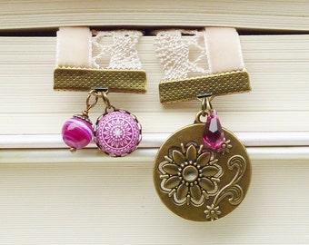"""bookmark """"Dahlias"""" bronze"""