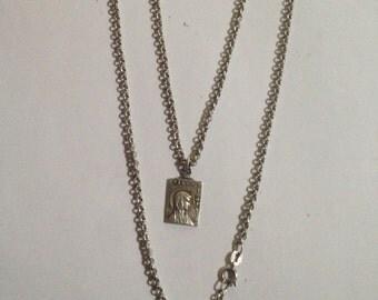 Silver Medal 1870 Virgo Virginum obc Lourdes France