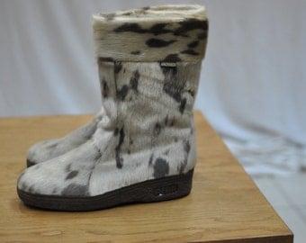 Vintage LACKNER men's boots , fur coat boots  , snow boots ....(029)
