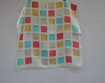 Vintage STRENESSE  silk scarf....