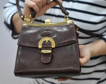 Vintage BULAGGI small handbag , leather handbag...(331)