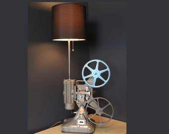 Vintage Table Lamp / Desk Lamp - Keystone Regal 8MM Projector - Hollywood décor