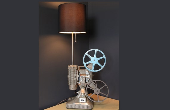 SUPER SALE - Vintage Table Lamp / Desk Lamp - Keystone Regal 8MM Projector - Hollywood décor