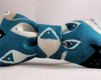 Cat Collar and Bow Tie or Flower - High Tide