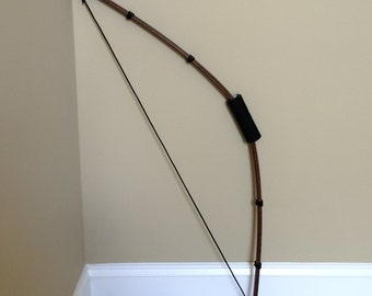 Foldable Costume Bow, Loosely Strung Collapsible Archer's Wood Finish Bow for Costume or Prop; Renaissance, Lord of Rings