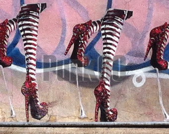 Urban Street Art Photograph Graffiti High Fashion High Heels Print Photography from New York City Urban NYC in  SoHo.
