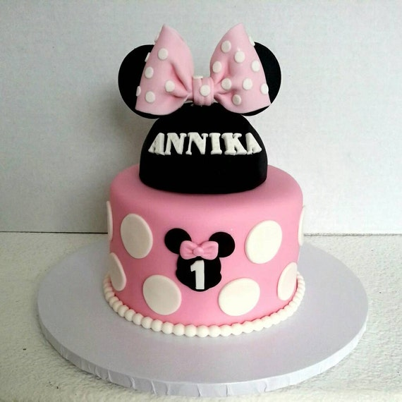minnie mouse inspired fondant cake topper. Black Bedroom Furniture Sets. Home Design Ideas