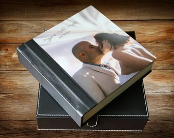 Wedding Album - Custom Album - Flush Mount Wedding Album with Metal Cover 12X12