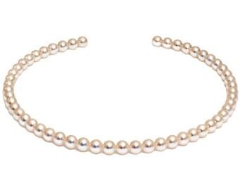 "18"" Hanadama Akoya Pearl Necklace Strand - 7 - 7.5mm - 18KT Gold Clasp"