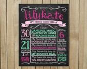 Custom Chalkboard Birthday Sign, Multiple Sizes Available, Printable, Custom Digital File