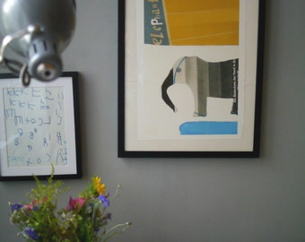 A3 Framed Elephant Print