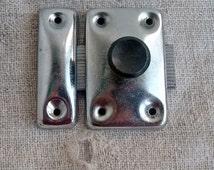 Vintage door latch, Rusty Cabinet door latch, Door Hardware, Salvaged, Furniture Hardware, Vintage, Supplies, Finding,Steampunk,