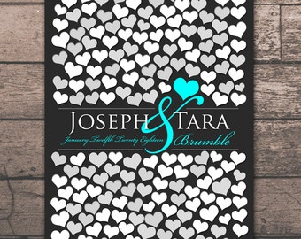 Extra Large Wedding Guestbook | 205 Guest Sign In 20x30 | Unique Wedding Guest Book | Bridal Guestbook Poster | BRIDAL GIFT POSTER _01