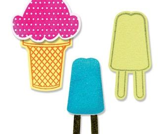 Sizzix Framelits Die Set 8PK w/ Clear Stamps - Ice Cream by Stephanie Barnard (659207)