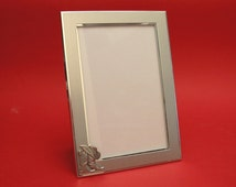"""Line Dancing Country & Western Picture Frame 6"""" x 4"""" With Hand Cast Pewter Motif Rodeo, Line Dancing Gift"""