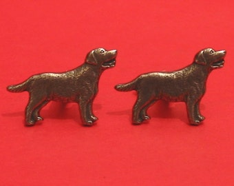 Labrador Retriever  Design Pewter Cuff-links Gift Boxed Labrador Owner Gift