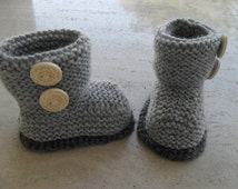 Instant Download Knitting Pattern B aby Booties/Boots - Quick and Easy