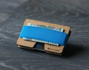 Slim wooden wallet, credit card holder, men and women wallet, wood minimalist wallet, coin wallet, modern design wallet, N wallet