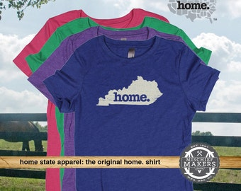 Kentucky Home. T-shirt- Womens Red Green Royal Pink Purple