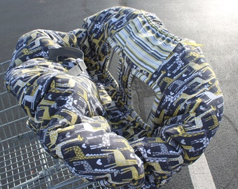 Grey & Yellow Designer Shopping Cart/High Chair Cover