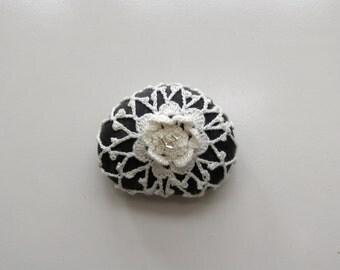 Crochet Rock, Crochet Stone, Crochet River Rock, Irish Crochet, Firefly NC