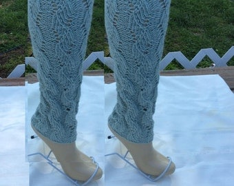 Knitted Legwarmers, Leg warmers boot womens leg warmers,  Seaspray Color or Select Color