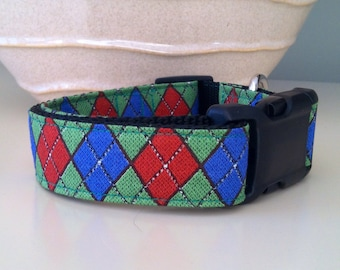 Dog Collar- Argyle