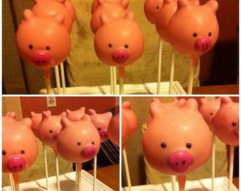 Pig Cake Pops - 1 Dozen