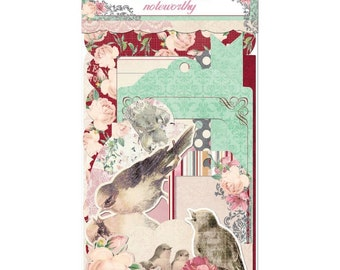CLEARANCE! Bo Bunny Madeleine Noteworthy Die Cuts