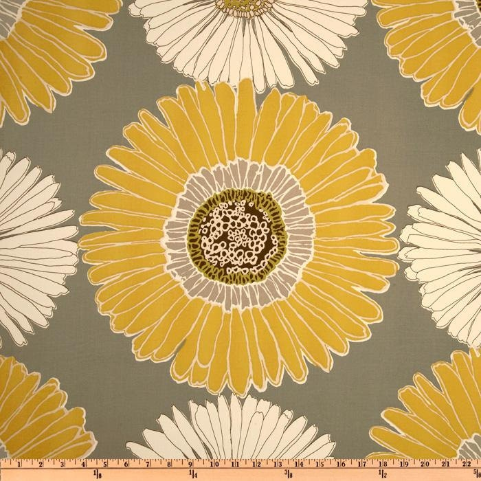 Home Decor Fabric Designer Fabric Cotton Sateen Yellow