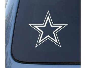 "Double Outline STAR 5"" Vinyl Decal Window Sticker for Car, Truck, Motorcycle, Laptop, Ipad, Window, Wall, ETC"