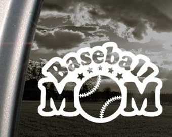 "BASEBALL MOM School Sports 6.5"" Vinyl Decal Window Sticker for Car, Truck, Motorcycle, Laptop, Ipad, Window, Wall, ETC"