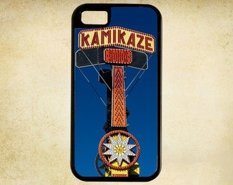State Fair Iconic Kamikazee Ride Blues and Golds For iPhone Case 4, 4s, 5, 5C, 6, 6+ and Samsung Galaxy 3, 4, 5, 6, Edge