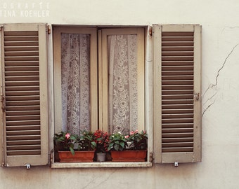 WINDOW photography print, italian street decor, 8x12
