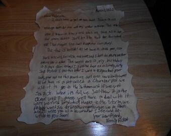 antique handwriten letter march 11, 1620