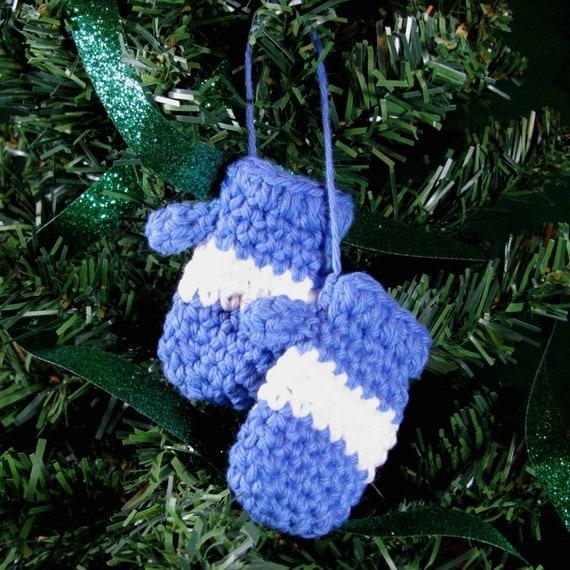Amigurumi Crochet Pattern Mitten Christmas Ornament