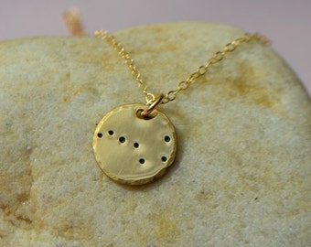 Gold or Silver Constellation Necklace - Rose Gold Constellation Necklace - Zodiac necklace - Ursa Major