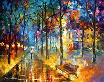 Colorful Paintings Alley Art On Canvas By Leonid Afremov   Colors Of My Past