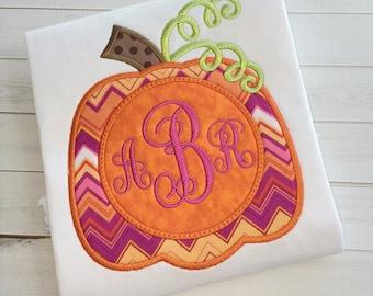 Pumpkin Monogram Applique