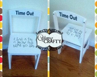Time Out Chair With Timer time out chair | etsy